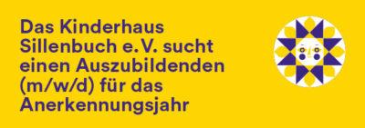 Das Kinderhaus Sillenbuch e.V. sucht einen Auszubildenden (m/w/d) für das Anerkennungsjahr