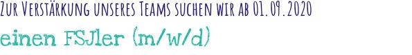 Kinderhaus Sillenbuch FSJler (m/w/d)